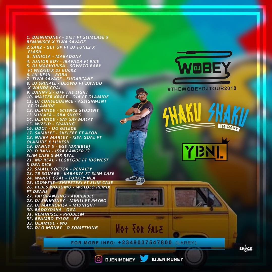 DOWNLOAD: DJ Enimoney – Shaku Shaku Therapy Mix Ft  Olamide, Slim